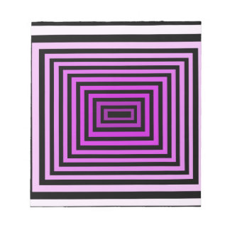 Twisted Brain Game Optical Illusion Purple Black Notepads