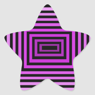 Twisted Brain Game Optical Illusion Purple Black Star Sticker