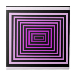 Twisted Brain Game Optical Illusion Purple Black Tiles