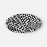 Twisted Checkers 7 Inch Paper Plate