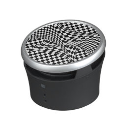 Twisted Checkers by Kenneth Yoncich Bluetooth Speaker