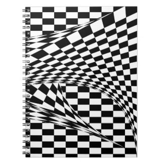 Twisted Checkers by Kenneth Yoncich Notebook