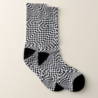 Twisted Checkers by Kenneth Yoncich Socks