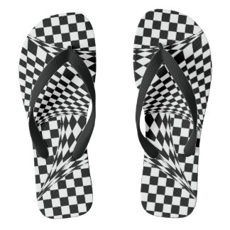 Twisted Checkers Flip Flops