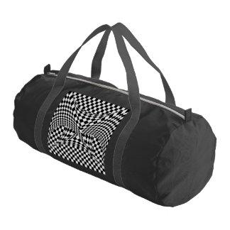 Twisted Checkers Gym Bag