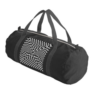 Twisted Checkers Gym Duffle Bag