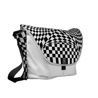 Twisted Checkers Messenger Bag