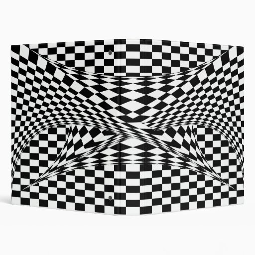 Twisted Checkers Vinyl Binder