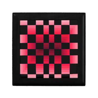 Twisted Chess Board Red Illusion CricketDiane Art Keepsake Boxes