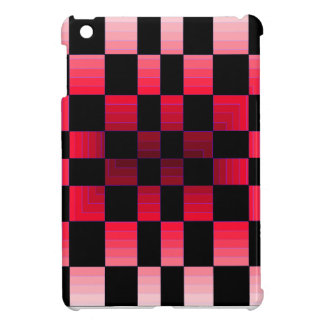 Twisted Chess Board Red Illusion CricketDiane Art Case For The iPad Mini