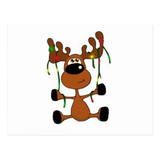 Twisted Christmas Moose Postcard