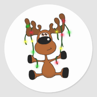 Twisted Christmas Moose Sticker