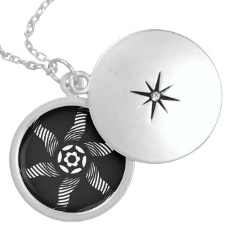 Twisted Circle Abstract Personalized Necklace