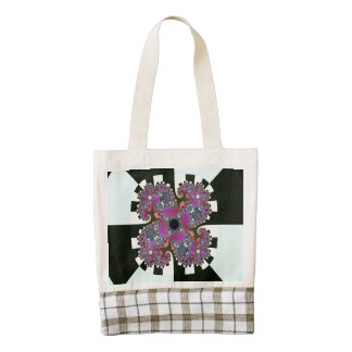 Twisted Colors Abstract Art Zazzle HEART Tote Bag