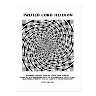 Twisted Cord Illusion (False Spiral) Postcard