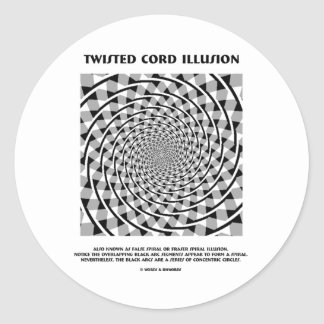 Twisted Cord Illusion (False Spiral) Stickers