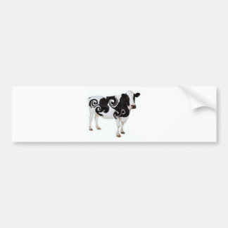 Twisted Cow Design Bumper Sticker