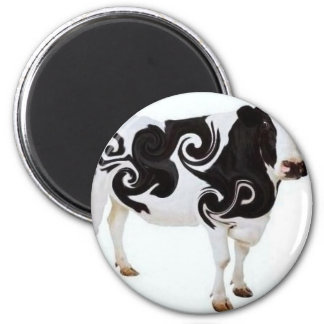 Twisted Cow Design Magnet