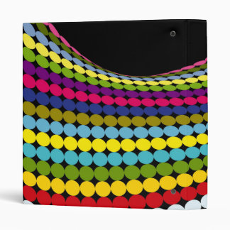 Twisted Dots 3 Ring Binder