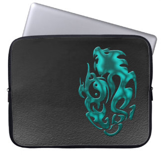 Twisted Dragon cyan Laptop Sleeve