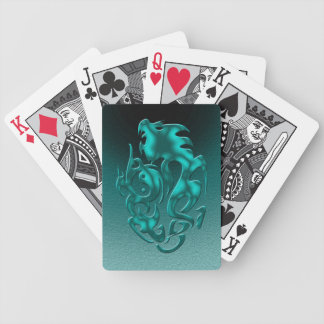 Twisted Dragon cyan Bicycle Poker Cards