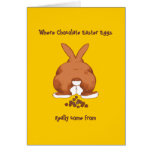 Twisted Easter Bunny Notecard