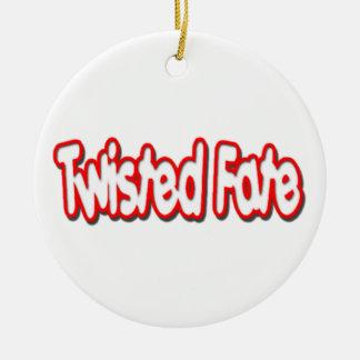 Twisted Fate Logo Christmas Tree Ornament