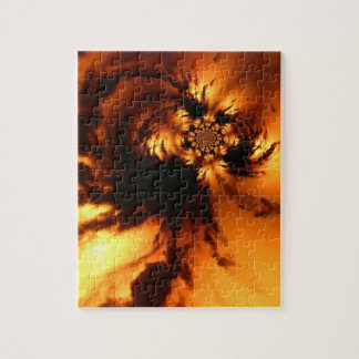 Twisted fire jigsaw puzzle