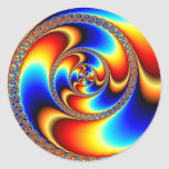 Twisted - Fractal Classic Round Sticker