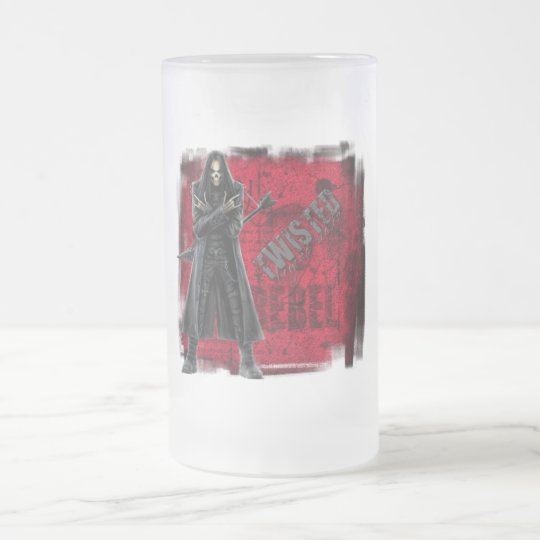 Twisted - Frosted Glass Stein