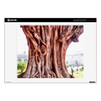 Twisted gnarled trunk decal for laptop