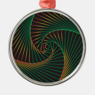 Twisted - Green and Red Metal Ornament