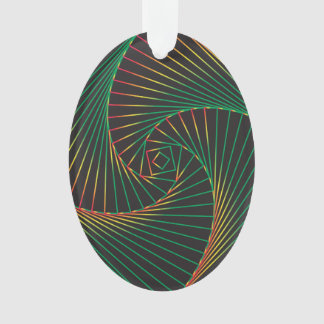 Twisted - Green and Red Ornament