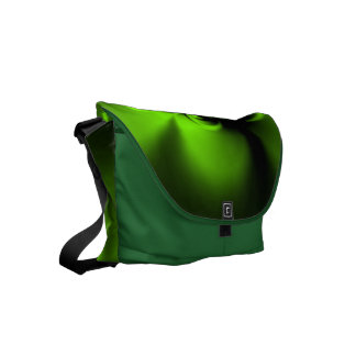 Twisted Green Small Messenger Bag