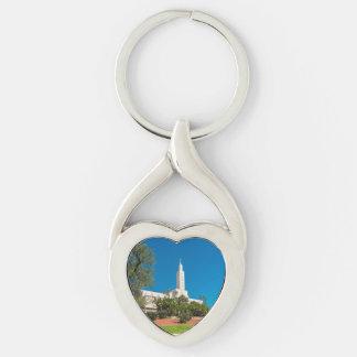 Twisted Heart Metal Keychain LDS LA Temple