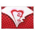 Twisted heart placemat