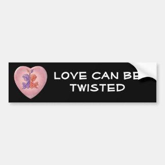 Twisted Hearts Bumper Sticker