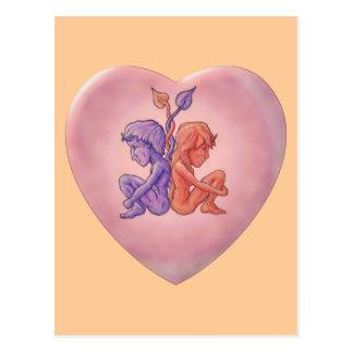 Twisted Hearts Postcard