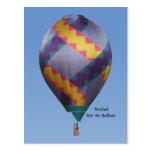Twisted Hot Air Balloon Postcard
