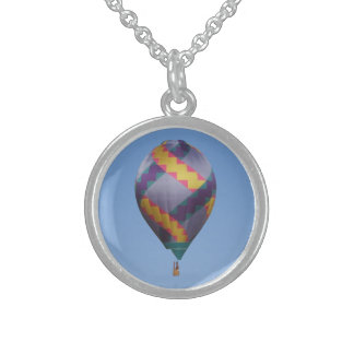 Twisted Hot Air Balloon Round Pendant Necklace