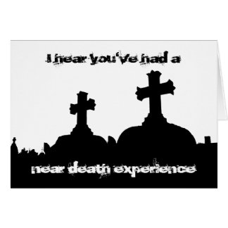 Twisted humor cemetery silhouette birthday stationery note card