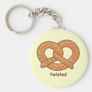 Twisted Basic Round Button Keychain