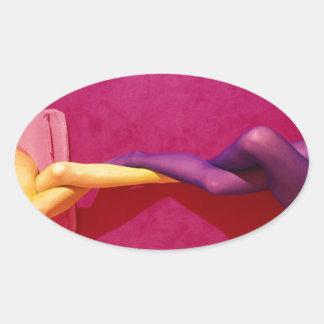Twisted Legs Oval Sticker