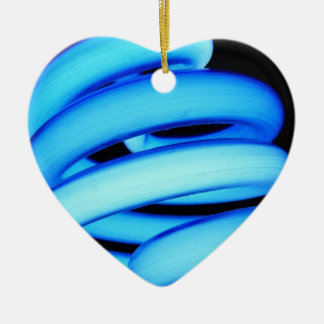 Twisted Light Bulb in Neon Blue Ornament