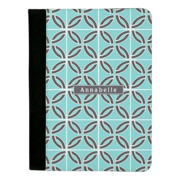 USA Themed Twisted Lines in Mint & Gray and Name Padfolio