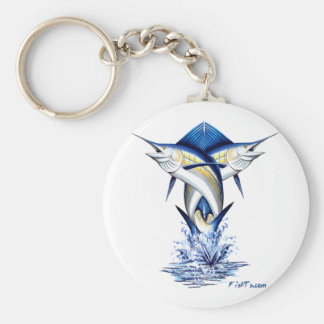 Twisted Marlins Jumping Basic Round Button Keychain