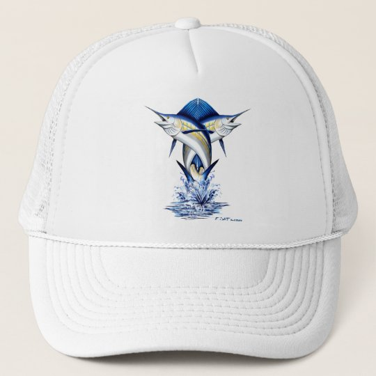 Twisted Marlins Jumping Trucker Hat