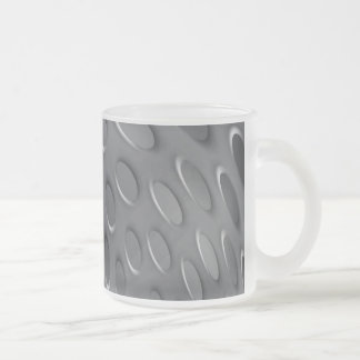 Twisted Metal Plate Frosted Glass Coffee Mug