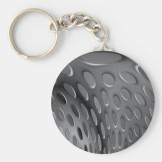 Twisted Metal Plate Keychain