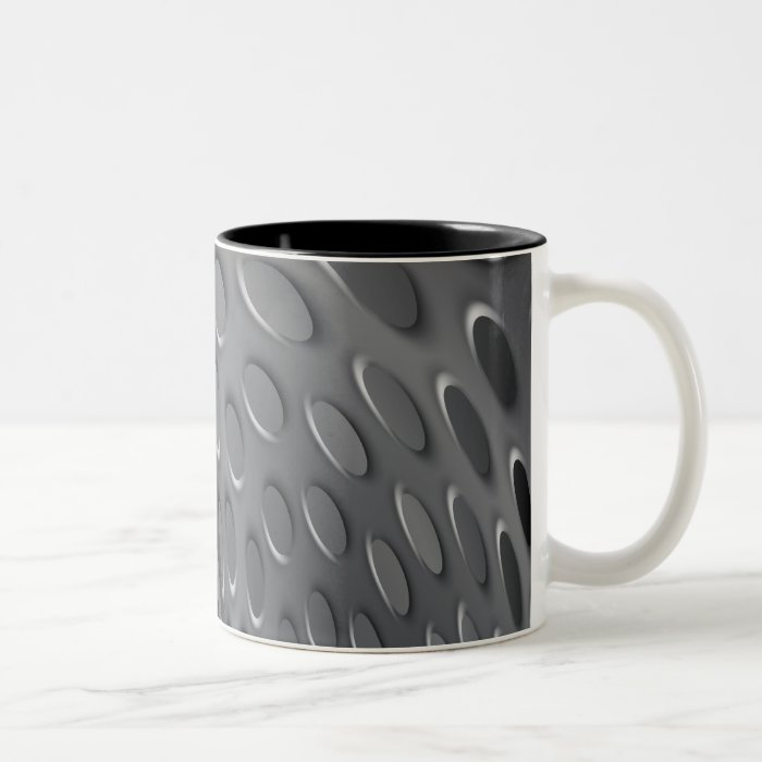 Twisted Metal Plate Two-Tone Coffee Mug